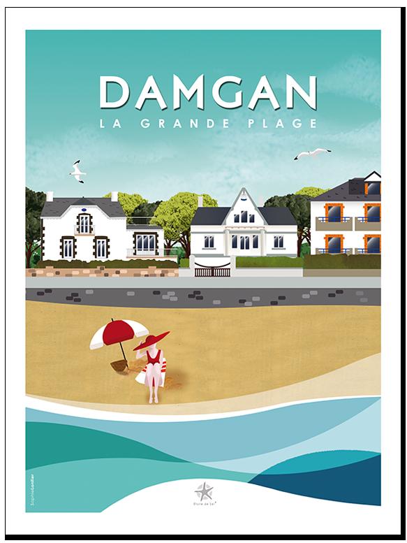 la grande plage de damgan en Morbihan bretagne sud