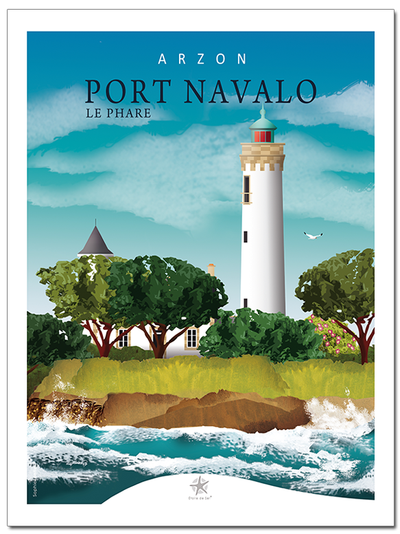 le phare de port navalo à Arzon Morbihan Bretagne sud