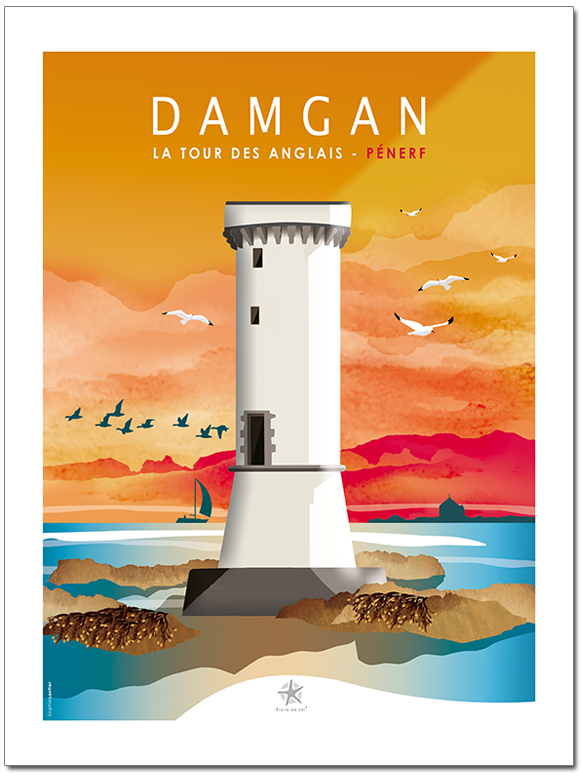 La tour des Anglais à Penerf en Damgan en bretagne sud